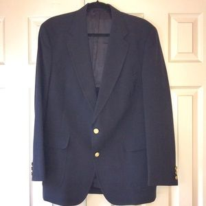 Jos A Bank Navy Wool Sport Coat Blazer EUC
